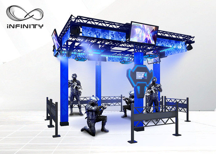 220V 9D Virtual Reality Walking Platform Multiplayer Interactive VR Shooting Games proveedor