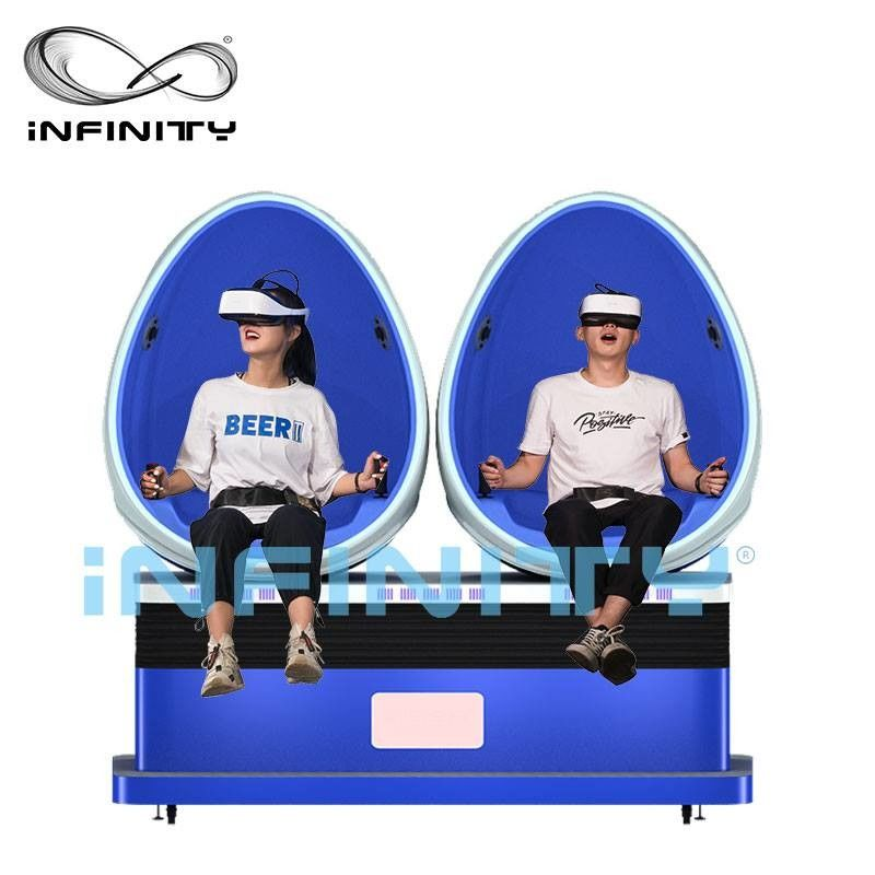 Virtual Reality Smart HD 9D Egg VR Cinema 360 Degree Rotation For Amusement Park