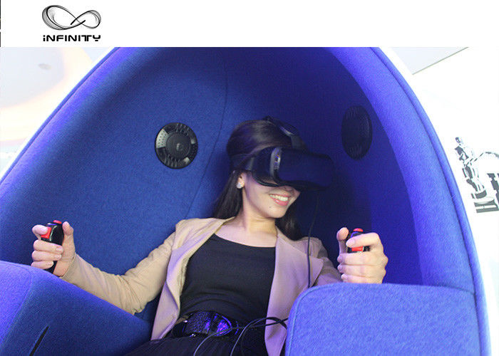 2 Player 9D Egg VR Cinema Simulador With Deepon E3 Glasses For Shopping Mall