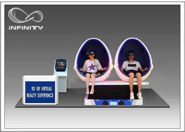 Interactive Game 9D VR Cinema , 2 Or 3 Seats Virtual Reality Capsule