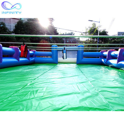 Custom Pvc Inflatable Football Pitch Soccer Field For Outdoor Sport